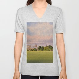 Christchurch Meadow Oxford City England Unisex V-Neck