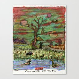 Consulting With The Tree Canvas Print
