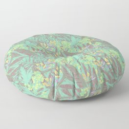 Tropical Paradise: Jade Jungle Floor Pillow