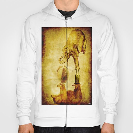 The elephant and the bear have fun Hoody