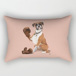 The Boxer (colour) Rectangular Pillow