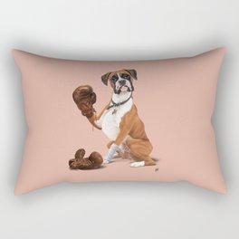 The Boxer (colour) Rectangular Pillow