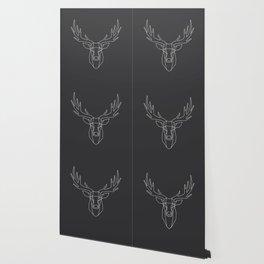 Geometric Deer Head Wallpaper