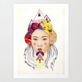 pink cheeks Art Print