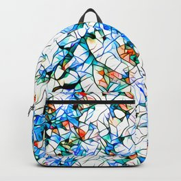 Glass stain mosaic 1 abstract - by Brian Vegas Backpack