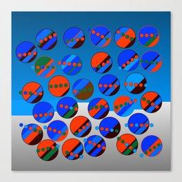 Bubbes Blues Canvas Print