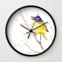 Yellow Wagtail Wall Clock