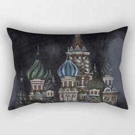 Saint Basil's Cathedral - dark, Moscow, Russia Rectangular Pillow