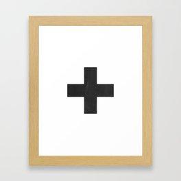 Swiss Cross (Black) Framed Art Print