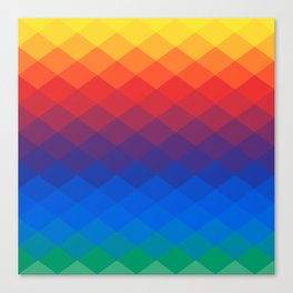 Polygonal Rainbow Canvas Print