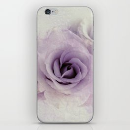 wet purple rose iPhone Skin