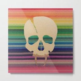 Rainbow Skull Metal Print