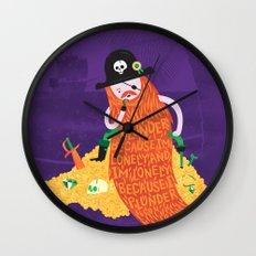 Piratical cycle Wall Clock