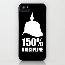 Prussia 150% discipline iPhone Case