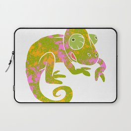 psychedelic chameleon Laptop Sleeve