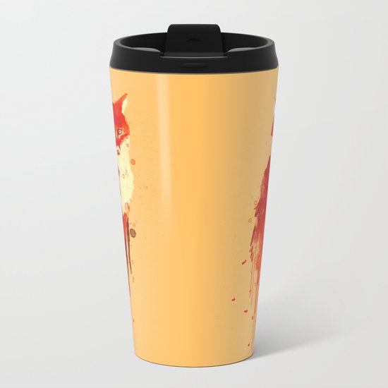 The fox, the forest spirit Metal Travel Mug