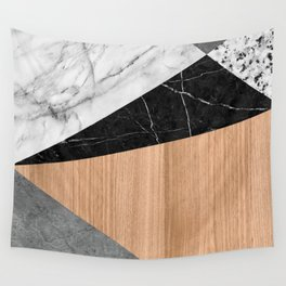 Marble, Garnite, Teak Wood Abstract Wall Tapestry