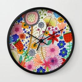 fleur-moi Wall Clock