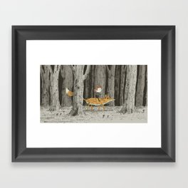 'Boy & Fox' Framed Art Print