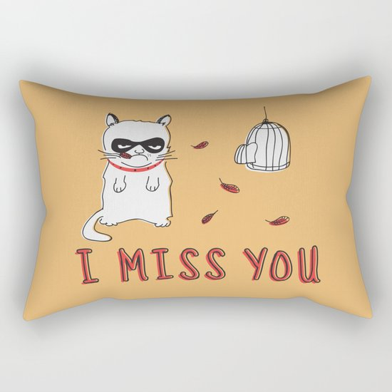 I Miss You Rectangular Pillow