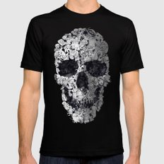 Doodle Skull Mens Fitted Tee MEDIUM Black