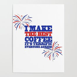 Funny Trump Midterm Political Election Coffee Love Gift Poster