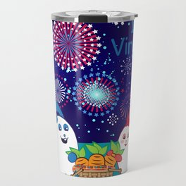 Ernest and Coraline | I love Virginia Travel Mug