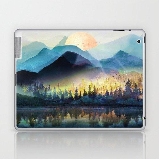 Mountain Lake Under Sunrise Laptop & iPad Skin