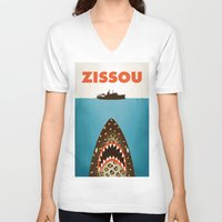 murray V-neck T-shirts featuring Zissou by Wharton