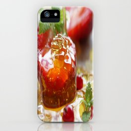 Summer Love strawberries with honey iPhone Case