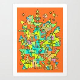 Structura 10 Art Print