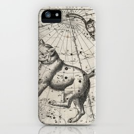 Astronomy: a chart of the constellations Great Bear and Little Bear iPhone Case
