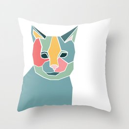 Graphic Cat Throw Pillow