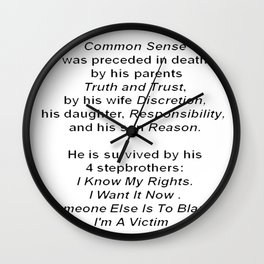 The Death of Common Sense Wall Clock