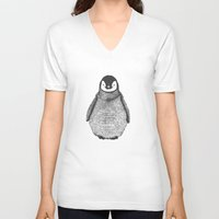 penguin V-neck T-shirts featuring penguin by barmalisiRTB