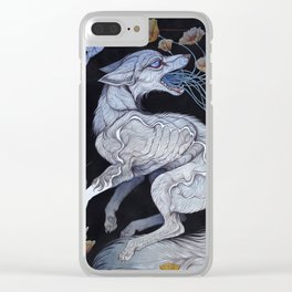 Fox & Poppies Clear iPhone Case