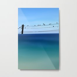 Cretan Sea & Birds I Metal Print