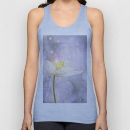 White Flower In The Forest Enchantments - Bokeh Background #decor #buyart #society6 Unisex Tank Top