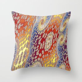 Fractal Vortices Throw Pillow