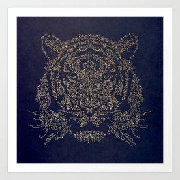 Ornamental Tiger Art Print