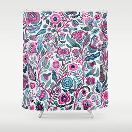 Endlessly growing - pink and turquoise Shower Curtain