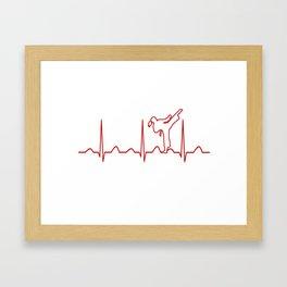 Karate Girl Heartbeat Framed Art Print