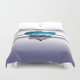 Flowers and Mountains Duvet Cover