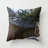model Throw Pillows featuring Model by Nicole Dupee