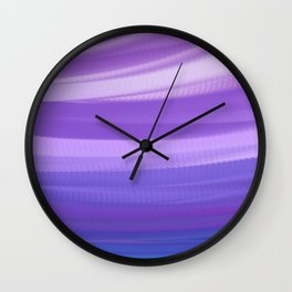 blue and violate wavy abstract Wall Clock