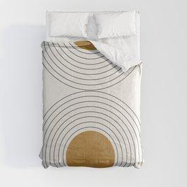 Sunshine Retro Circle Sun Comforters