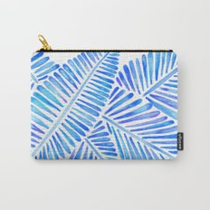 Tropical Banana Leaves – Blue Palette Carry-All Pouch