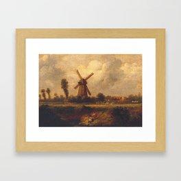 John Constable 1776–1837   'Barnes Common' Framed Art Print