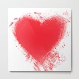 YOU CRUSHED MY HEART Metal Print