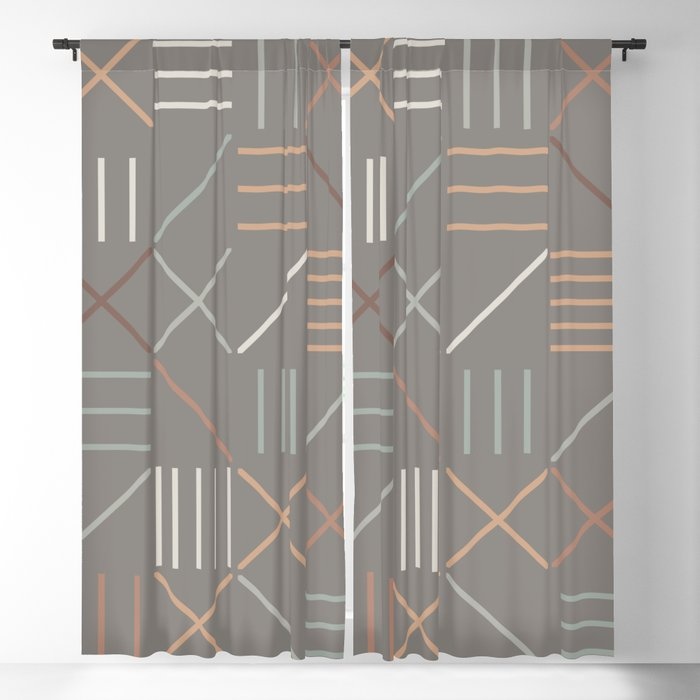 Geometric Shapes 06 Blackout Curtain